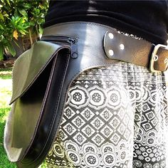 Cartucheira couro leather bag handmade belt bag