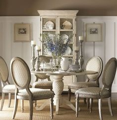 White French Country Dining Set