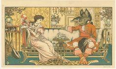 """A bela e a fera na Idade do Bronze  Uma das muitas versões da fábula """"A bela e a fera"""", lançada em 1896 com ilustrações do artista inglês Walter Crane, um dos mais influentes criadores de livros infantis de sua geração"""