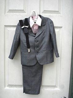 Vintage little boys grey suit ringbearer outfit by allfortheboys, $55.00