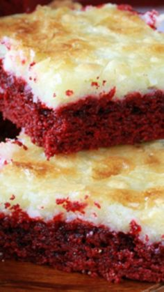 Red Velvet Gooey Butter Cake Recipe