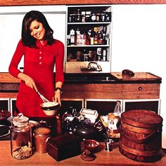 Magdorable!: Diana Rigg in her kitchen, photo John Kelly, Jasmin (Germany) March 1968