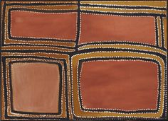 rover thomas / Rock Country on Texas Downs, 1988, bush gum and ochre on canvas