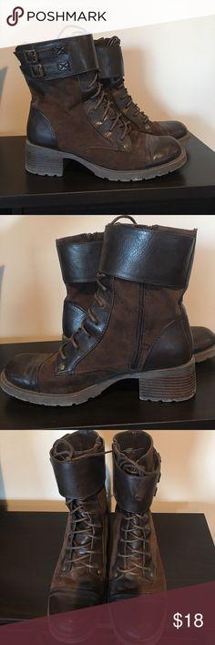 Dark brown Ruff Hewn ankle boots Dark brown side zip ankle boots. Ruff Hewn Shoes Ankle Boots & Booties