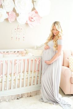 A Touch of Pink Nursery // Baby Girl Nursery. Baby Bedroom, Baby Room Decor, Nursery Room, Girl Nursery, Girl Room, Nursery Decor, Maternity Pictures, Pregnancy Photos, Baby Pictures