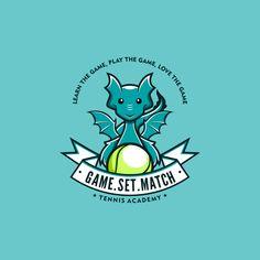 Match Tennis Academy - Logo Design Contest for Tennis Academy Game.Match Tennis academy is a Hong Kong based tennis academy mainly focus in providing tennis training to all ki. Logo Branding, Logo Horse, Logo Dragon, Animal Outline, Academy Logo, Funny Cartoon Characters, Wolf, Funny Dragon, Outline Illustration