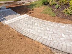 Brick Paver Patio Herringbone Herringbone brick walkway | exterior ...