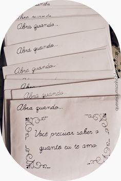 """Que seja um sonho: DIY & Ideias de presentes para namorados: Cartas """"Abra quando.."""""""