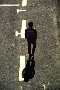 Senna walking alone