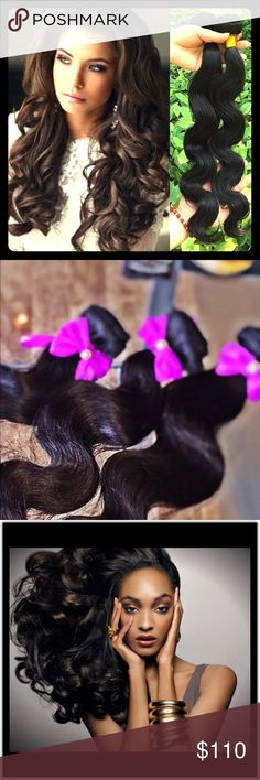 Brazilian Body Wave Hair Extensions [EXCLUSIVE] www.LuxxeHair.com  Premium Luxxe Hair provides the most luxurious and long-lasting virgin hair extensions in this flawless Brazilian Body Wave.  All extensions are 100% un-processed Virgin Human Hair, therefore all hair is provided in its natural black color.  * Hair remains luxurious, tangle-free and of top quality for a minimum of 1 year. When wet, hair returns to its natural opulent wave pattern. Premium Luxxe Hair Makeup False Eyelashes