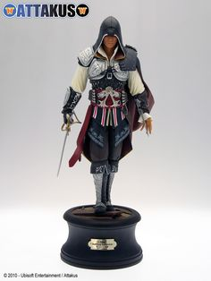 Attakus: New Assassins Creed II Statues of EZIO - After finishing Ready Player One, I've decided I want to make my armor a cosplay of RP1 with a SW slant. It's still going to be mostly Mando/Jedi, but I want to incorporate other franchises and stories as well.   Such as Ezio's hidden wrist-blade. I also very much like the shoulder cape and half-skirt....