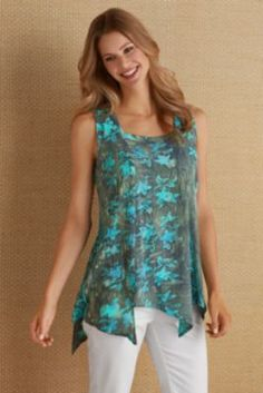 Mira Costa Batik Tunic from Soft Surroundings