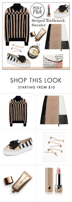 """Striped Turtleneck Sweater"" by pat912 ❤ liked on Polyvore featuring Loewe, Alexander Wang, Alice + Olivia, Free People, Nude by Nature, Hermès, Marc Jacobs, turtleneck, polyvoreeditorial and womensFashion"