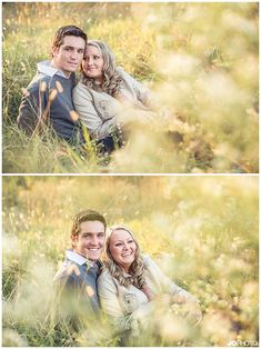 knoxville-photography  fall engagement photos in a field  http://www.JoPhotoOnline.com/blog