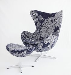 Fritz Hansen EGG chair × minä perhonen Imagine fabrics