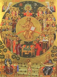 All Saints Day; June Day for honoring saints, known and unknown. In general, saints are persons with reputation for unusual lives of holiness and devotion to God or who were martyred for their faith. Catholic Saints, Roman Catholic, Catholic Bible, Catholic News, Religious Icons, Religious Art, Orthodox Calendar, John Chrysostom, Lives Of The Saints