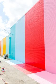color wall by sugarandcloth Houston, Texas, USA (2016)