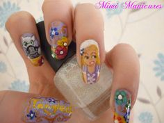Disney tangled nails http://mimimanicures.blogspot.co.uk/2013/05/the-manicure-that-made-me-want-to-throw.html
