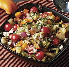 Grilled Vegetable Salad with Feta