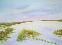 Sunset Over Penny's Hill - OBX - watercolor