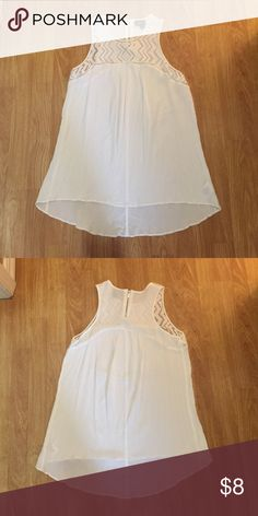 White Mossimo Tank Used but in great condition! No stains, discoloration, etc. Mossimo Supply Co Tops Tank Tops