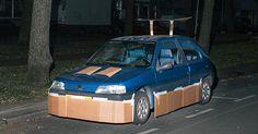 This Guy Walks Around At Night Pimping Random People's Cars With Cardboard (8 pics): http://www.boredpanda.com/carboard-pimping-cars-strangers-max-siedentopf/