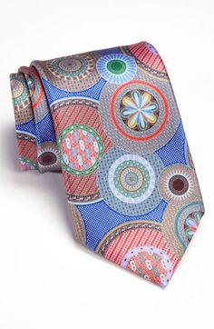 Ermenegildo Zegna 'Quindici' Print Silk Tie