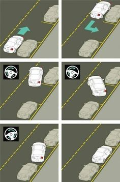 Driving: What are some parallel parking tips? Taking test tomorrow! Driving Test Tips, Driving Safety, Learning To Drive Tips, Driving Rules, Parallel Parking Tips, How To Parallel Park, Drivers Ed, Car Facts, Car Care Tips