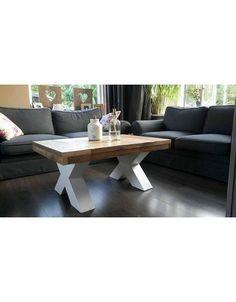 Salontafel 70 cm breed tot 150 cm lang, Houten X poten Dining Bench, Table, Furniture, Coffee, Home Decor, Bath, Kaffee, Table Bench, Room Decor
