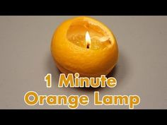 Make a Lamp from an Orange in 1 minute.    How to make a lamp using an orange and olive oil in just a minute. Extremely useful during power outages or for creative decorations.