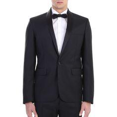 Dsquared2. Black Tokio tuxedo. Made In Italy.