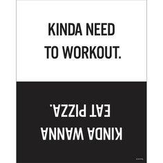 Workout Eat Pizza Print – Dormify
