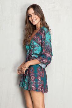 macaquinho detalhe nó estampado soul   Dress to