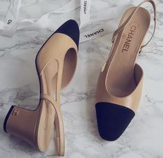 Chanel sling back shoes Slingback Chanel, Espadrilles Chanel, Slingback Shoes, Pumps, Stilettos, Shoes Heels, High Heels, Chanel Outfit, Chanel Chanel