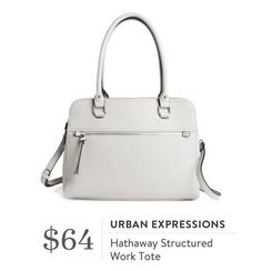 Urban Expressions Hathaway Structured Work Tote