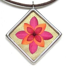 Ixora (Jungle flame) Pressed flower pendant | Flickr - Photo Sharing!