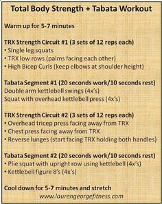 TRX Total Body Strength   Tabata Workout - This workout will hit every major muscle group and the Tabata segments will get your heart pumping!