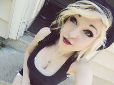 blonde and black hair