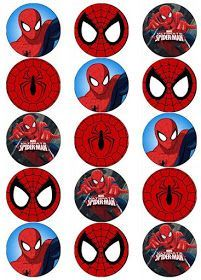Resultado de imagen para free printable cupcake wrappers and toppers with spiderman Image Spiderman, Spiderman Theme, Spiderman Cupcake Toppers, Birthday Images For Men, Cupcakes For Men, Man Birthday, Birthday Ideas, Birthday Gifts, Birthday Cupcakes