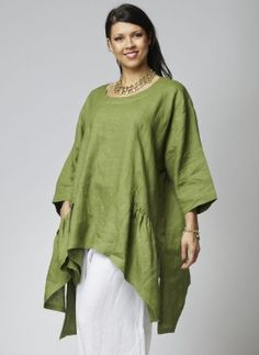 Violet Green 3 - Designer Plus Size Clothing - Habibe London Designer Plus Size Clothing, Designer Dresses, Kinds Of Clothes, Linen Blouse, Comfortable Fashion, Plus Size Outfits, Casual Dresses, Bell Sleeve Top, Tunic Tops