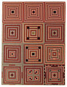 anno Soldier's Quilt: Square Within a Square Artist unidentified Antique Quilts, Vintage Quilts, Victorian Quilts, Postage Stamp Quilt, Wool Quilts, Wool Embroidery, Square Quilt, Quilt Making, Quilting Designs