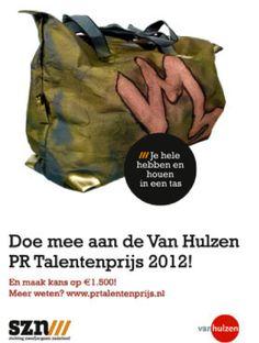 Met drie medestudenten de 3e prijs gewonnen in de finale van de Van Hulzen PR Talentenprijs 2012