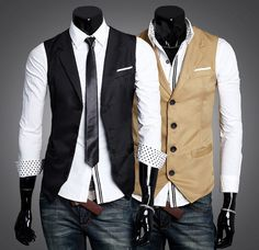 Men's British Style Waistcoat Business Casual Slim Pony Clip Suit Vest - Wool Suit Vest For Men Mens Suit Vest, Blazer Vest, Casual Blazer, Mens Suits, Dress Vest, Men Dress, Vest Coat, Western Outfits, Suit Fashion