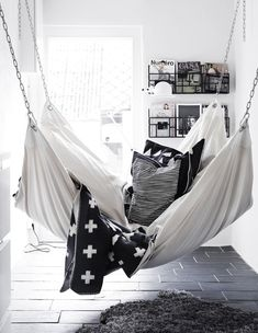 Hammock in the bedroom