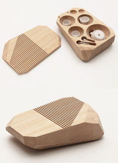 Set da tè/centrotavola T Time by @Poliform  | #design Naike Cogliati