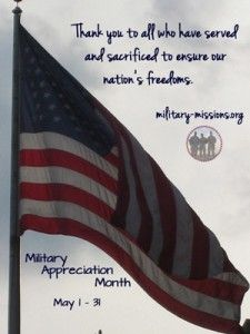 Thanks to all who have served and sacrificed to keep this nation free!