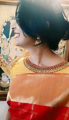 New & Trending blouse designs (Indian bride) ArtsyCraftsyDad Pattu Saree Blouse Designs, Fancy Blouse Designs, Saree Blouse Patterns, Bridal Blouse Designs, Blouse Neck Designs, Maggam Work Designs, Work Blouse, Ibiza, Devon