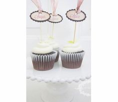 Sugar and Spice cupcake topper picks handmade by Anista Designs