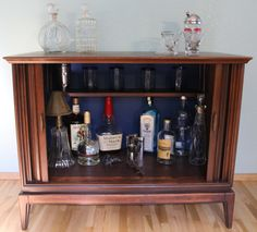 TV Liquor Cabinet~ What I Can Do With My Vintage Tv Cabinet.