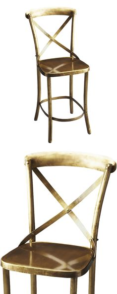 If you're a fan of old-time décor, you'll appreciate this Hopper Bar Stool. We love its classic design, but what catches our fancy most is its fabulous industrial-chic finish over a metal base. It look...  Find the Hopper Bar Stool, as seen in the The Billiards Room Collection at http://dotandbo.com/collections/the-billiards-room?utm_source=pinterest&utm_medium=organic&db_sku=117134